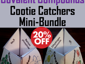 Naming Ionic and Covalent Compounds Cootie Catchers Bundle