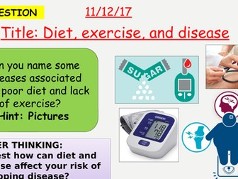 AQA new specification-Diet, exercise and disease-B7.4