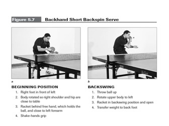 Table Tennis - 7 lessons