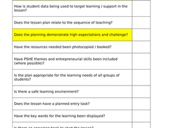 lesson planning checklist by sharon cross1 teaching resources tes