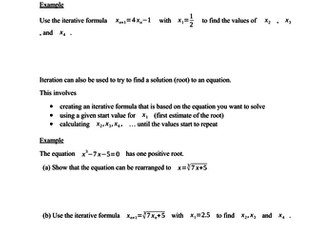 Iteration - solving equations (new GCSE)