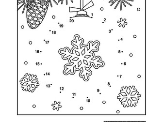 dot to dot and coloring page christmas ornament