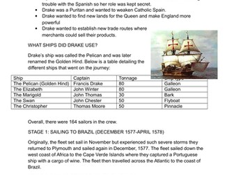 GCSE History Early Elizabethan England L14 Reasons for Exploration and Drake's Circumnavigation