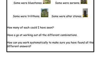 Year 3 Stonehenge maths problem