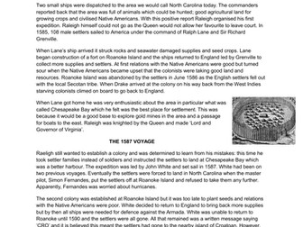 GCSE History Early Elizabethan England L15 The significance of Raleigh and Virginia