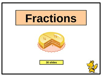 Introducing Fractions - PowerPoint Presentation (29 slides)