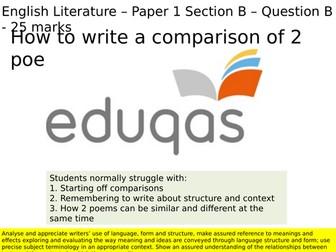 How to write a comparison of Ozymandias and Hawk Roosting for Eduqas / WJEC 9-1