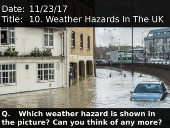 10. Weather Hazards In The UK
