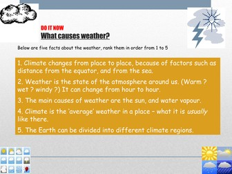 KS3 weather - L3 - weather causes fully resourced