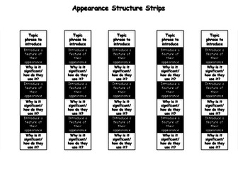 Information Text Structure Strips