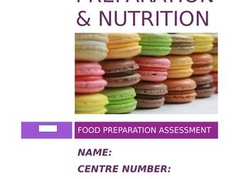 AQA FOOD PREPARATION & NUTRITION NEA2 BOOKLET