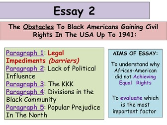 higher history usa essays by alixtharris teaching  2017 18 updated higher history usa essay 2 obstacles to civil rights