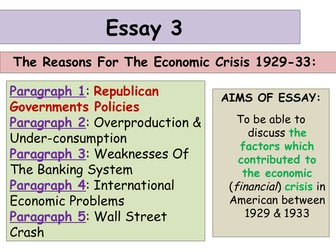 higher history usa essays by alixtharris teaching  2017 18 updated higher history usa essay 3 economic crisis