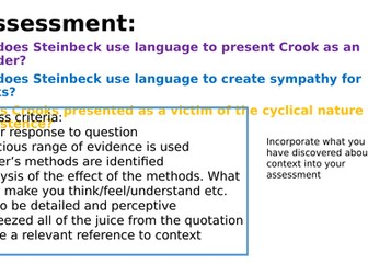 what methods does steinbeck use to present crooks