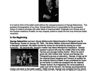 Dance History - Legends in Dance - George Balanchine