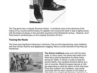 Dance History - History of American Tap