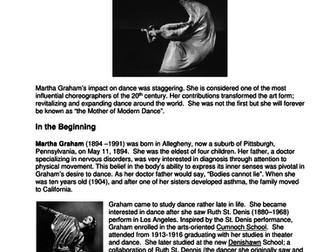 Dance History - Legends in Dance - Martha Graham