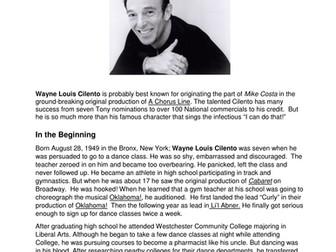 Dance History-Legends in Dance-Wayne Cilento