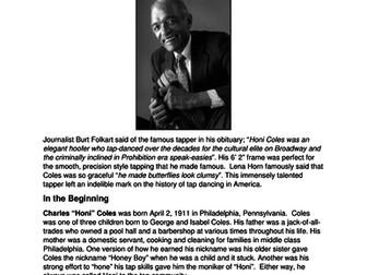Dance History-Legends in Dance-Honi Coles