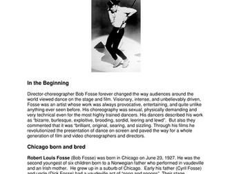 Dance History-Legends in Dance- Bob Fosse
