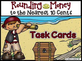 Rounding Money to the Nearest 10 Cents Task Cards