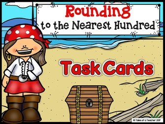 Rounding to the Nearest Hundred Task Cards