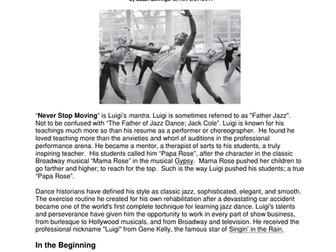 Dance History - Legends in Dance - Luigi