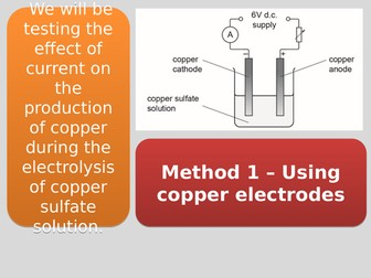 CC10a Electrolysis Core Practical (Edexcel Combined Science)