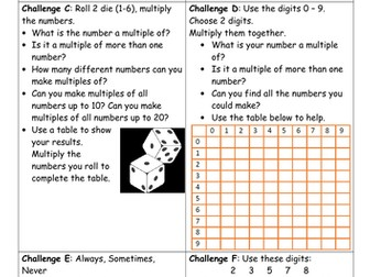 Year 5 Block 4 White Rose Mastery Multiplication and Division Lesson 1 Multiples