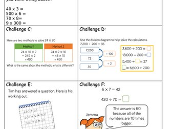 Year 5 Block 4 White Rose Mastery Lesson 10 Multiply and Divide by multiples of  10, 100, 1000