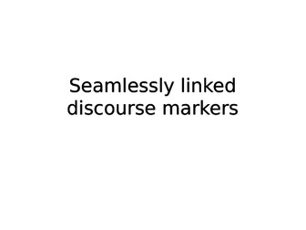 Discourse Markers for Descriptive Writing - GCSE English Language