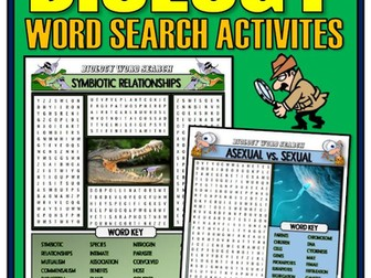 Biology Word Search Activities