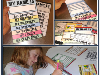 Get to know your students foldables