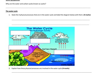 GCSE Ecology new spec Higher Tier: how matter is cycle