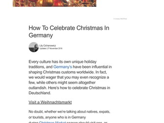 How to Celebrate Christmas in Germany - Article Reading Guide
