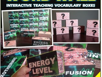 Chemistry Word Wall Interactive Teaching Vocabulary Boxes