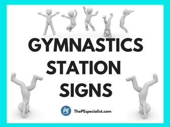 Gymnastics Station Activities for PE Class |Printable Task Cards|