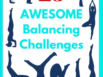 25 Single Balancing Challenges E-book and Task Cards