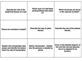 AQA 9 -1 GCSE BIOLOGY Bioenergetics revision flash cards and knowledge organiser