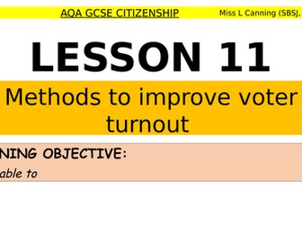 methods to improve voter turnout
