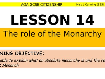 the role of the monarchy-aqa gcse citizenship