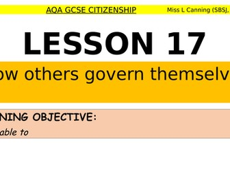 how others govern themselves-aqa gcse citizenship