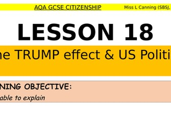 the trump effect- a discussion lesson for aqa gcse citizenship