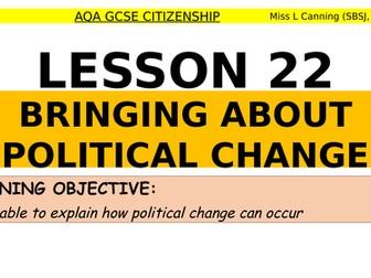 Bringing about political change-AQA GCSE Citizenship