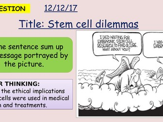 AQA new specification-Stem cell dilemmas-B2.4