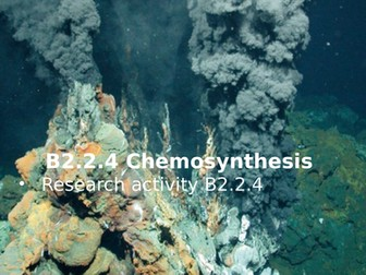 Activate 2 B2.2.4 Chemosynthesis