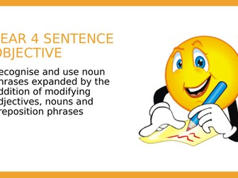 Year 4 SPAG PPT lesson: Expanded Noun Phrases