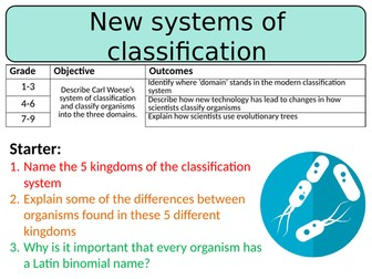 NEW AQA GCSE Trilogy (2016) Biology – New systems of classification