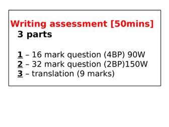 AQA Spanish new GCSE - Writing exam skills booklet
