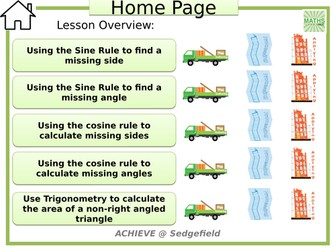Non-right angled trigonometry